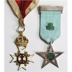 1950-70: Masonic regalia of Sir John C. Savage Kt.