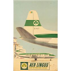 Circa 1950 Poster: Aer Lingus Irish International Airlines