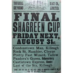 1951 (31 August) Youghal Greyhound Race Co. Shagreen Cup poster