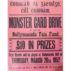 1952 (20 March) Conradh na Gaeilge fund raising drive poster