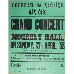 1952 (27 April) Conradh na Gaeilge grand concert poster
