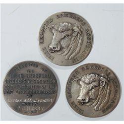 1954-64: Irish Hereford Breeders Association silver award medals