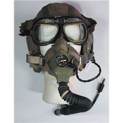 1950s: Air Force flying hat, goggles and mask