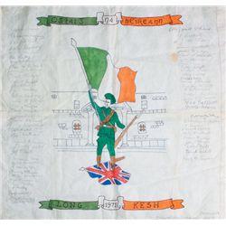 1971: Gerry Adams signed Long Kesh prisoner art