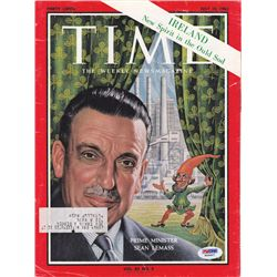 1963 (12 July) Signed Sean Lemass issue of Time magazine