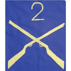 circa 1980: Irish Army 2nd Infantry Battalion unit flag
