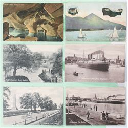 20th Century: Collection of Irish interest postcards addressed to the Gore-Booth family