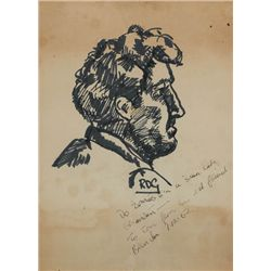 1962 (7 December) Brendan Behan signed portrait