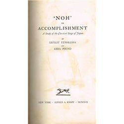 Fenellosa (Edward) and Ezra Pound 'Noh' or Accomplishment - John B. Yeats' copy