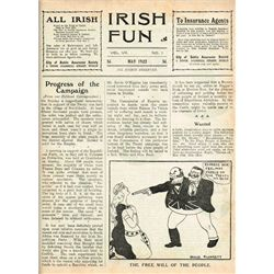1921-25: Irish Fun magazine Vol. VI to Vol. X