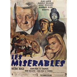 1958: Les Miserables French movie poster