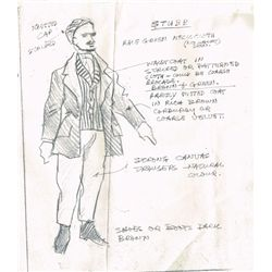 1961: Moby Dick costume design sketches and notes by Alpho O'Reilly