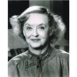 Bette Davis signed photograph
