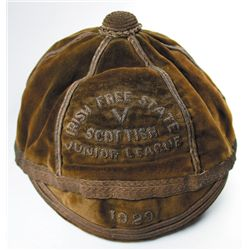 Football. 1929: Irish Free State Junior League representative cap awarded to Patrick Kavanagh of Har