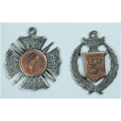 Football. 1941-42: F.A.I. Intermediate Cup runners up medal awarded to Cork United