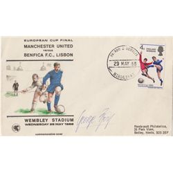 Football: 1968 (29 May) philatelic commemorative envelope for the European Cup Final, Manchester Uni