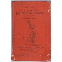 Cricket: John Lawrence's Handbook of Cricket in Ireland, First Number 1865-66