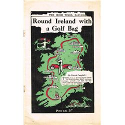 Golf. 1937 Round Ireland with a Golf Bag, Irish Times pamphlet