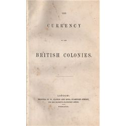 George James Pennington, The Currency Of The British Colonies