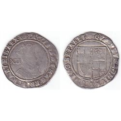 England. Edward VI shilling and James I shilling