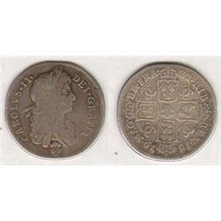 England. Charles II. Shilling. 1679