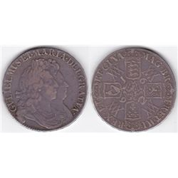 England. William & Mary crown, 1692