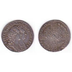 England. William & Mary, Sixpence, 1693
