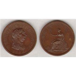 England. George III. Copper Proof. Penny. 1806