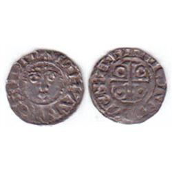 John as Lord of Ireland 1185 AD, silver halfpenny, Dublin.