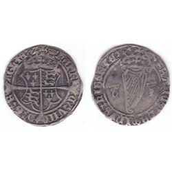 Henry VIII (1509-1547) Jane Seymour Harp Issue silver groat.