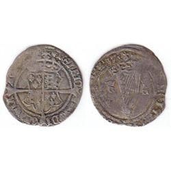 Henry VIII (1509-1547) Fifth Harp Issue silver groat.