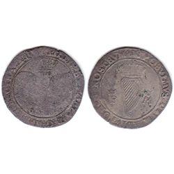 Philip and Mary (1554-1558) billon shilling 1555.