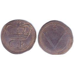 "Charles I (1625-1649).Irish Rebellion Period ""Ormonde Money"" crown, 1643."