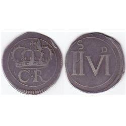 "Charles I (1625-1649).Irish Rebellion Period ""Ormonde Money"" halfcrown, 1643."