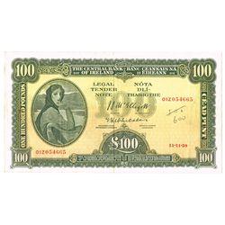Central Bank Lady Lavery One Hundred Pounds