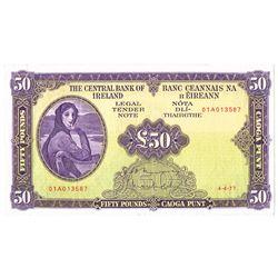 Central Bank Lady Lavery Fifty Pounds