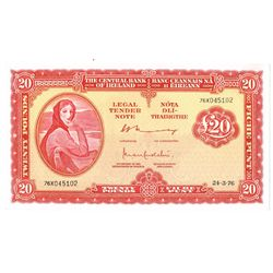 Central Bank Lady Lavery Twenty Pounds, a scarce sequential pair