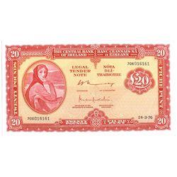 Central Bank Lady Lavery Twenty Pounds