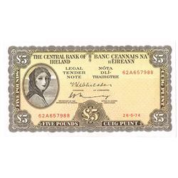 Central Bank Lady Lavery Five Pounds