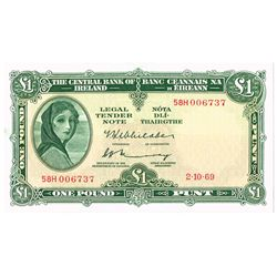 Central Bank Lady Lavery One Pound