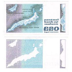 "Central Bank Series ""B"" Twenty Pounds - rare printing error"
