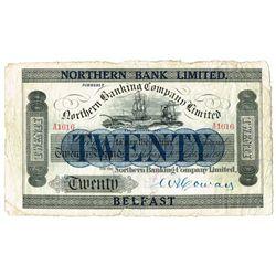 Northern Ireland Northern Bank Twenty Pounds 1921