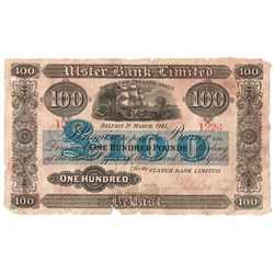 Ulster Bank Northern Ireland Issue One Hundred Pounds