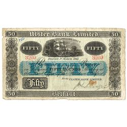 Northern Ireland Ulster Bank Fifty Pounds 1941