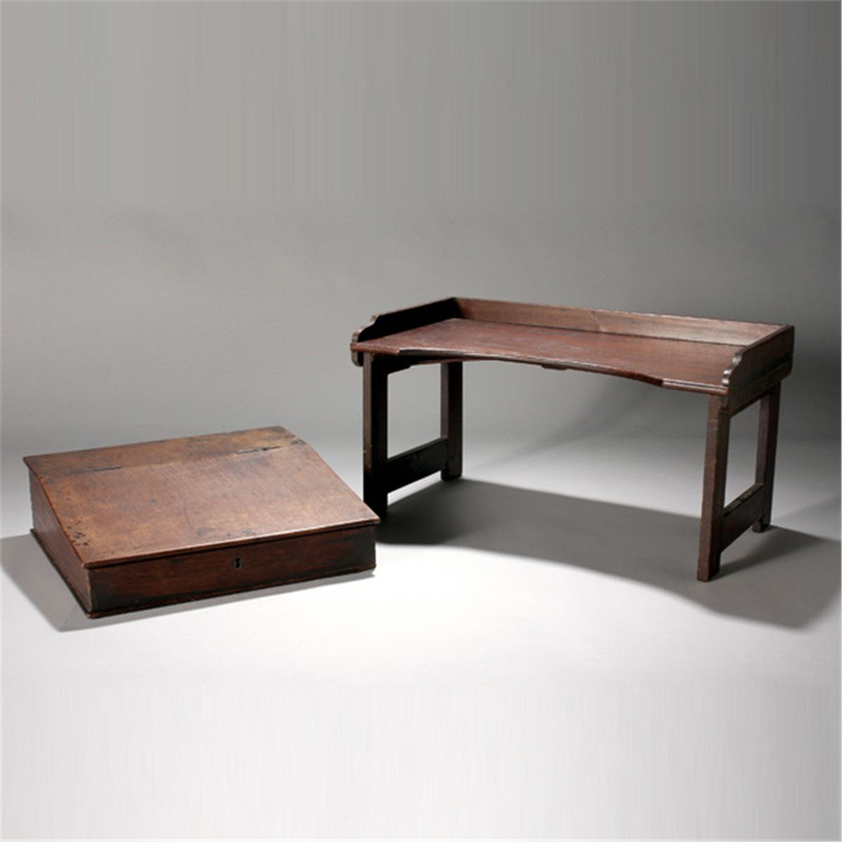 Picture of: Victorian Lap Desk Together With A Folding Tray