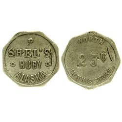 AK - Ruby,Shel's Trade Token *Territorial*