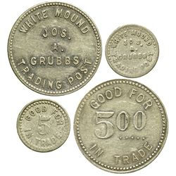 AZ - Allantown,Apache County - Jos. A Grubbs White Mound Indian Trader Tokens