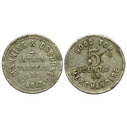 AZ - Cienega Amarilla,Apac he County - c1905 - Manning & Osborne Indian Trader Token