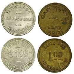 AZ - Ehrenberg,La Paz County - c1900-1950 - Merchandise Tokens