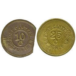 AZ - Fort Bowie,Cochise County - Post Canteen Military Tokens